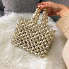 "New Cheap Bags. The location where building and construction meets style, beaded crochet is the act of using beads to decorate crocheted products. ""Crochet"" is derived fro Mini Handbags, Crochet Handbags, Purses And Handbags, Crochet Bags, Beaded Purses, Beaded Bags, Tod Bag, Travel Outfit Summer, Summer Travel"