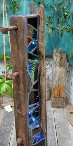 Image result for wood and glass art