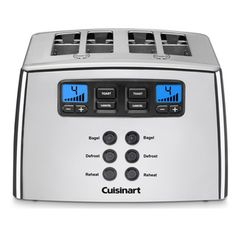 Cuisinart Silver Lever-less 4-slice Toaster @Overstock - Toast a variety of food with this four-slice toaster from Cuisinart. A silver finish, seven setting and lever-less design complete this toaster. http://www.overstock.com/Home-Garden/Cuisinart-Silver-Lever-less-4-slice-Toaster/7110237/product.html?CID=214117 $99.95