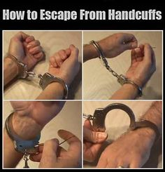 Learn how to escape from Smith & Wesson Double Lock handcuffs like a Magici Survival Life Hacks, Survival Prepping, Survival Skills, Homestead Survival, Self Defense Moves, Self Defense Techniques, Double Lock, Smith Wesson, Useful Life Hacks