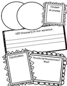Multiuse graphic organizer FREEBIE The Mailbox (R