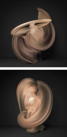 Nude: Photo Series by Shinichi Maruyama - The figure in the imageis created by combining 10,000 individual photographs of a dancer.