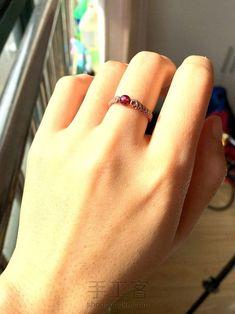 【柳月绳话】简洁大方气质百搭转运珠戒指 第2步