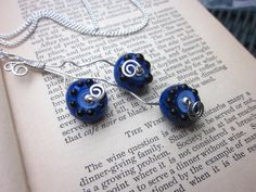 Handcrafted Glass Blueberry Bead Sterling by BlueberryBayBeads, $50.00