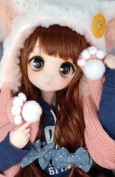 Kawaii Doll, Kawaii Anime, Pretty Dolls, Beautiful Dolls, Blythe Dolls, Barbie Dolls, Dainty Doll, Cute Love Images, Dream Doll