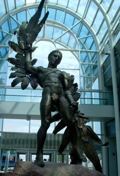 Icarus statue.  Look at the wings