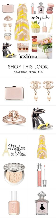 """""""Spring Date"""" by fratellikarida-com ❤ liked on Polyvore featuring Coccinelle, Chanel, Bliss Diamond, Fratelli Karida, Wall Pops!, MaxMara, Christian Dior, Essie, Guerlain and Ladurée"""
