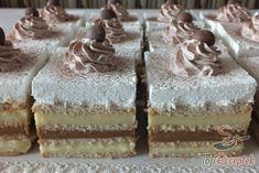 Shortbread biscuits, banana pudding, caramel pudding, vanilla pudding and a . Hungarian Cake, Hungarian Recipes, Bingo, Shortbread Biscuits, Popular Recipes, Vanilla Cake, Nutella, Caramel, Food And Drink
