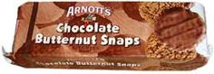 Arnotts CHOCOLATE Butternut Snap - Crunchy with , chocolate, oats, and coconut.  What more do you need??
