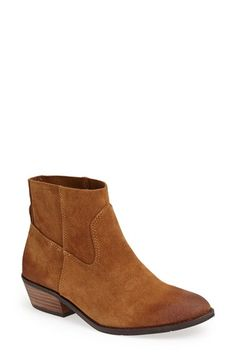 Free shipping and returns on DV by Dolce Vita 'Cassidy' Bootie (Women) at Nordstrom.com. Pieced, lightly-distressed suede with tonal topstitching refreshes a classic Western bootie lifted with a stacked woodgrain heel.