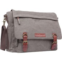 Kelly Moore Bag Kate Messenger Bag with Removable Basket (Sand Canvas with Brown Trim)