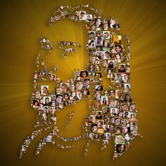 Jesus (Shape) Photo Mosaic designed by Picture Mosaics Design Team Photo Mosaic, Mosaic Designs, Shapes, Create, Diamond, Mosaics, Gallery, Larger, Christmas