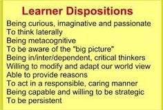 Image result for learning dispositions