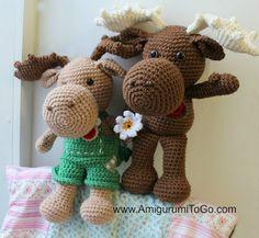 Free Pattern Crochet Amigurumi Large Crochet Moose Free Pattern Amigurumi To Go Crochet Gratis, Crochet Amigurumi, All Free Crochet, Cute Crochet, Crochet For Kids, Crochet Dolls, Knit Crochet, Amigurumi Free, Crochet Crowd