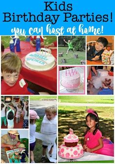 This post will show you exactly how to throw amazing kids birthday parties at home that are magical for your kids, fun for you, and inexpensive! You'll find tons of tips and themes for for your kids birthday party ideas at home! Birthday Party At Home, Birthday Party Games, Birthday Party Decorations, Birthday Party Invitations, Boy Birthday, Birthday Ideas, Birthday Cupcakes, Tween Party Games, Kids Party Themes
