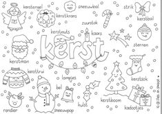 Christmas Fun, Xmas, Dutch Language, Jingle Bells, Arts And Crafts, Doodles, Bullet Journal, Letters, Logos
