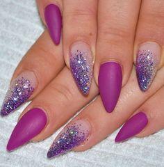 Matte Purple with Glitter