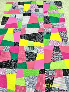Wonky Nine Patch - quilt in progress 2011
