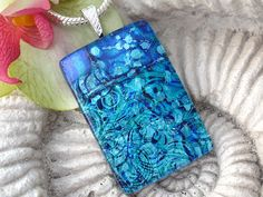 Dichroic Glass Pendant   Dichroic Fused Glass Jewelry by ccvalenzo, $28.00
