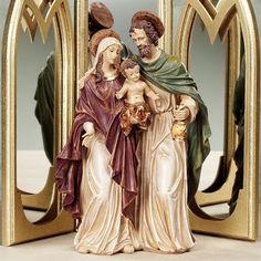 Precious Holy Family Sculpture