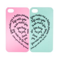 BFF 2pk iPhone Case (16 BRL) ❤ liked on Polyvore featuring accessories, tech accessories, phone, electronics, iphone, phone cases, view all accessories, apple iphone cases, iphone cover case and iphone cases