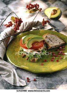 Turkey and Avocado Sandwich