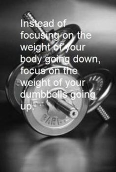 Instead of focusing on the weight of your body going down...focus on the weight of your dumbbells going up!