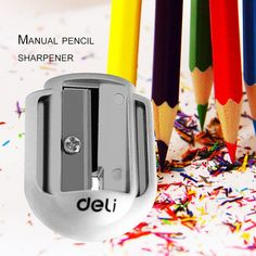 Pencil Sharpener, Deli, Campaign, Stationery, Medium, Store, Silver, Products, Papercraft