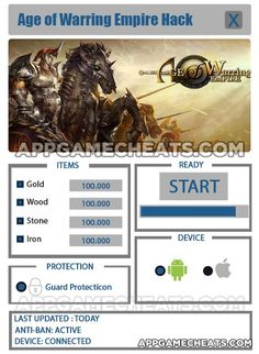 Age of Warring Empire Hack Cheat 2016 tool download. With updated Age of Warring Empire Hack you will have just fun. Try Age of Warring Empire Hack tool. Age of Warring Empire Hack working with last update.