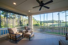 Spacious Balcony | Outdoor Living | Luxury Real Estate Bluffton, South Carolina | Outdoor Seating Ideas | Lowcountry Living | Southern Style