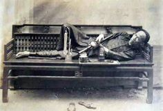 A victim of opium which England sold the drug to China during End of Qing Dynasty