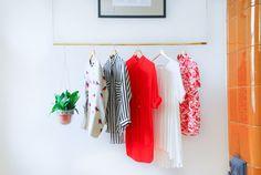 Hanging Clothing Rack by Kekoni on Etsy