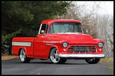 """Gentleman's Pickup"" S125 1955 Chevrolet Cameo Pickup LS1, 4-Wheel Disc Brakes 1955 Chevrolet, Chevrolet Trucks, Gmc Trucks, Cool Trucks, 1955 Chevy, Classic Pickup Trucks, Old Pickup Trucks, Vintage Trucks, Antique Trucks"