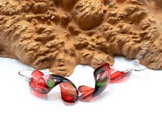 Acrylic Pour Transparent Spiral earrings, dangle, Multi color, resin, sterling silver, paint, hand made, statement, earrings, fun, painting Eye Stone, Acrylic Pouring, Transparent, Stone Bracelet, Spiral, Fun, Dangles, Painting, Sterling Silver
