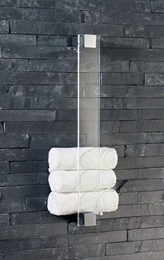 Glass modern towel holder want a few for my toilets in my new home great for my wetroom and next to my bidets and ensuite