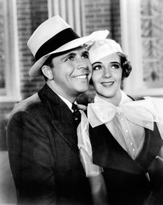 Dick Powell and Ruby Keeler are all smiles in Footlight Parade (1933).
