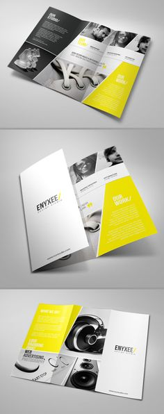 Professional Tri-Fold Brochure for your business - 8,5×11 inches - 300 dpi - CMYK - Bleed - Print Ready - Zip file includes: Photoshop, In Design files and the PDF help file. - Font used is are fre...