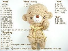 Teddy Bear ☺ Free Crochet Pattern ☺