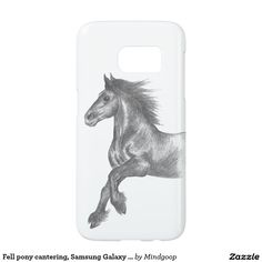 Fell pony cantering, Samsung Galaxy S7 case
