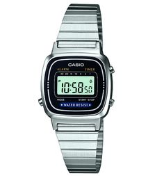Silver Slimline Retro Digital Watch LA670WEA-1EF
