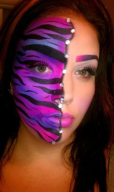 Pretty colors -- Halloween make-up