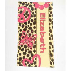 Beach Towel - Style #52071 Peace Love Cheetah Print