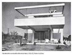 Ladislav Žák, Villa Hajn (built for aircraft designer + co-founder of Avia, Miroslav Hajn), Prague, 1932-33