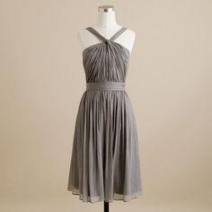 Emily's junior bridesmaid dress. Graphite silk chiffon from J. Crew Wedding.