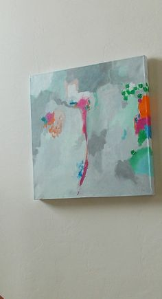 abstract painting pamela munger grey orange pink large abstract. $220.00, via Etsy.