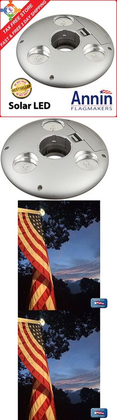 Flag Pole Light LED Solar Powered Automatic Super Bright Night Lamp Illuminate