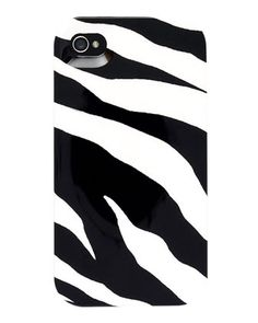 Plastic Zebra-Print iPhone 4 Cover - Neiman Marcus  $25