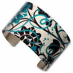 Chisel Stainless Steel Flora Linda Cuff Bangle Bracelet in Gift Pouch Gunther Gifts. $74.99. Average Weight: 38.63 Grams. Stainless Steel. Ink Surface Design