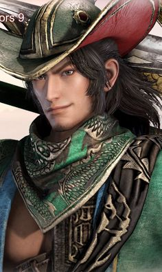 Sengoku Musou, Dynasty Warriors, Chinese Characters, 3d Artwork, 3d Character, Metal Art, Turbans, Portrait, Artworks