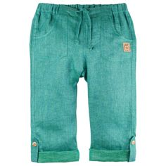 Pantaloni button Pure Pure in - Pine Green - HipHip. Smart Casual, Atlanta, Kids Fashion, Sweatpants, Buttons, Pure Products, Vegan, Spring, Green